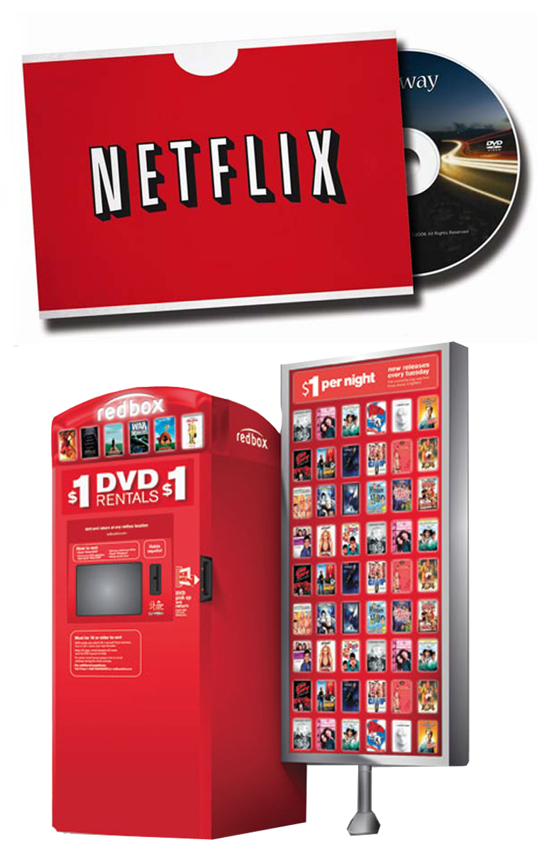 movie rental business blockbuster netflix and redbox Competition in the movie rental industry: netflix and redbox 1710 words | 7 pages has e-marketing and the use of the internet hurt blockbuster's dominance in the movie rental business and if it has what will they have to assessing driving forces which impact netflix and blockbuster.
