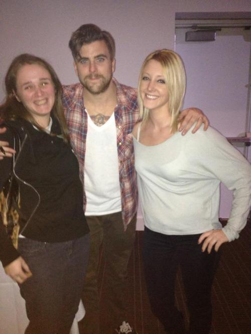 Anthony Green with Lauren Stern (left) and Erica Batchelor (right)