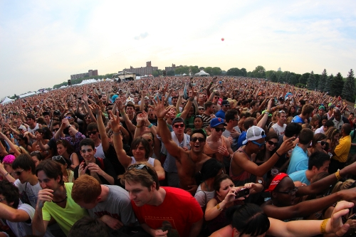 And this was just the afternoon crowd of Gov Ball 1...