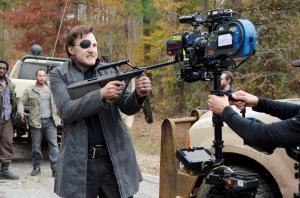 Shumpert (Travis Love), Martinez (Jose Pablo Cantillo) and The Governor (David Morrissey) - The Walking Dead - Season 3, Episode 16 - Photo Credit: Gene Page/AMC