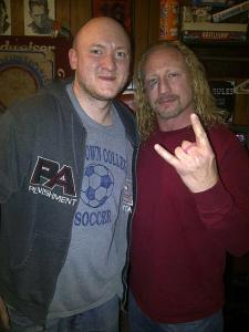 John Philapavage with former ECW champion Jerry Lynn