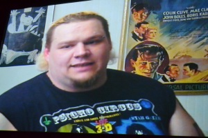 Brian Knighton AKA Axl Rotten, a heavily scarred hardcore wrestler for ECW. This interview took place before his battle with Bells Palsy.